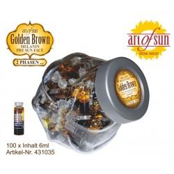 Bokaal 100X Golden Brown Melanin Gezicht