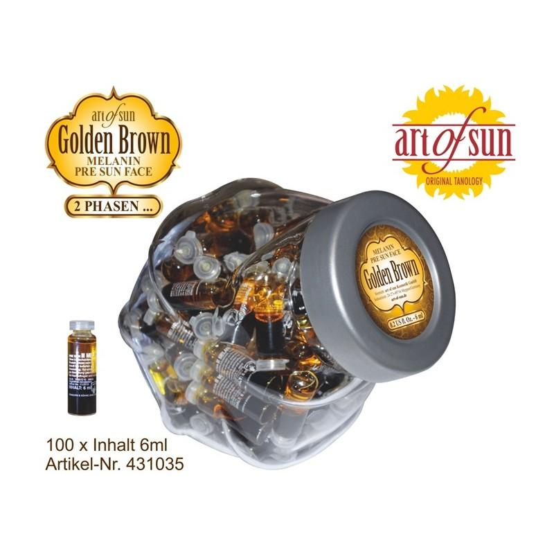 Bocal 100X Golden Brown Melanin Visage