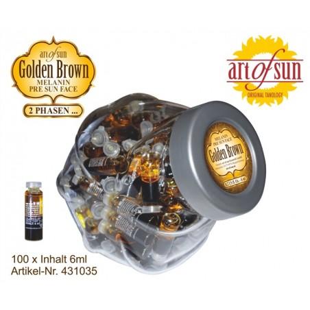 Display 100X Golden Brown Melanin Face